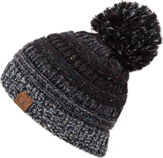 C.C Exclusives Unisex Ribbed Confetti Knit Beanie (HAT-33)