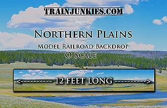 Train Junkies Northern Plains- Model Railroad Backdrop in O Scale
