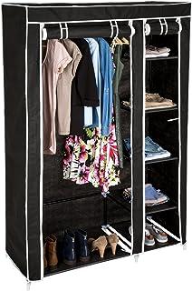 TecTake Armoire de Rangement penderie Dressing en Tissu avec 5 étagères + Tringle | 107 x 175 x 45 cm - diverses Couleurs ...