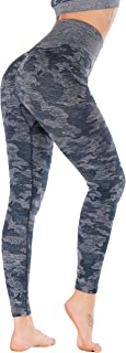 RUNNING GIRL Camo Leggings Gym Scrunch Butt Seamless High Waisted Tummy Control Stretch Workout Yoga Pants for Women