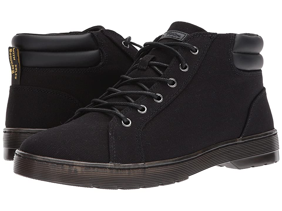 Dr. Martens Plaza 6-Eye LTT Boot (Black 14 Oz Canvas/Black PU Polyurethane) Men