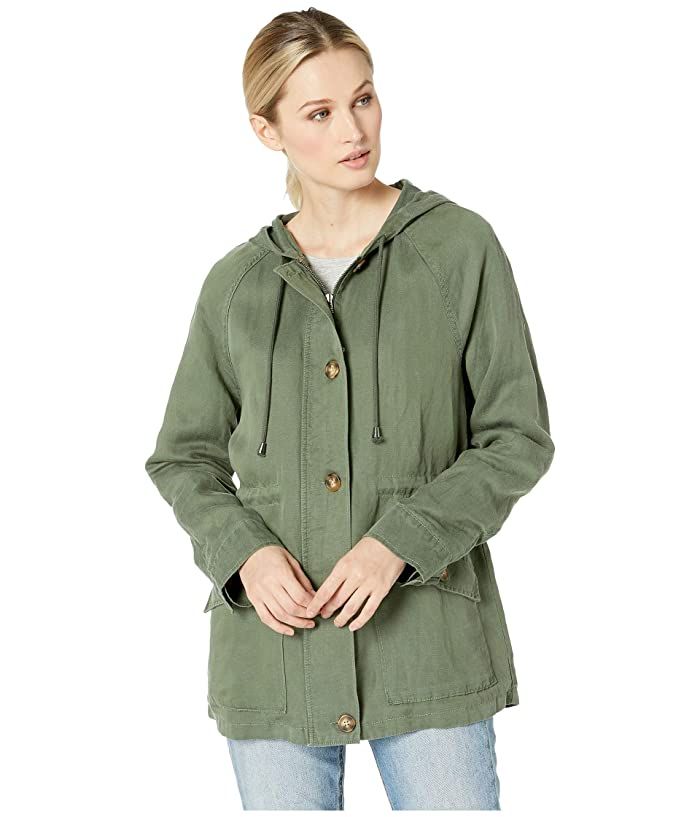 Sanctuary Commodore Hooded Anorak (Peace Green) Women