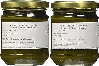 Brontedolci - 100% pura Pasta de Pistachos Verde crudos del Etna - 2 x 190g
