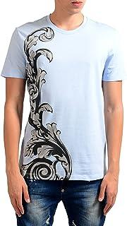Collection Men's Light Blue Graphic Print T-Shirt US M IT 50;