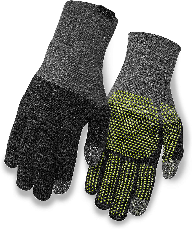 Amazon Com Giro Knit Merino Wool Adult Unisex Winter Cycling Gloves Clothing