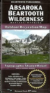 Absaroka Beartooth Wilderness, Montana & Wyoming, Outdoor Recreation Map