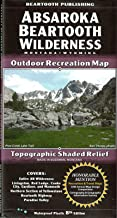 Absaroka Beartooth Wilderness, Montana & Wyoming, Outdoor Recreation Map