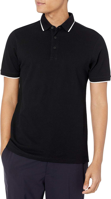 Lovert Premium Organic Cotton Polo Shirts for Men - Plain Short Sleeve Textured Jersey with Collar - Regular Fit