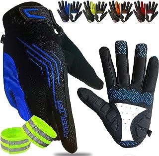 Cycling Gloves for Men Full Finger Road Bike Long Touchscreen Gel Padded Anti-Slip Lightweight Breathable for Mountain Bik...