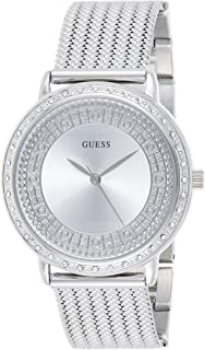Guess Women's Silver Dial Stainless Steel Band Watch - GUE_W0836L2