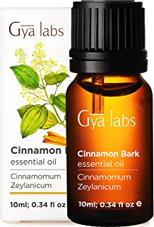 Gya Labs Cinnamon Bark Essential Oil For Pain Relief - Topical for Sore Muscles - Diffuse to Uplift Mood and Boost Body De...