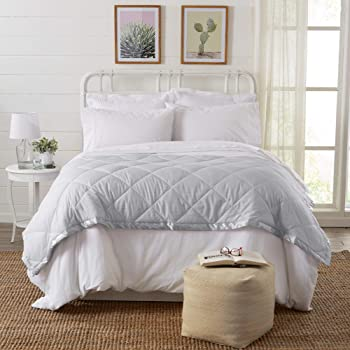 King Stayclean Water and Stain Resistant Blanket Silver
