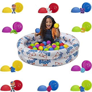 Blippi Ball Pit Mystery Adventure, Featuring Portable Indoor / Outdoor Inflatable Ball Pit, 35 Plastic Balls, 10 Surprise Balls with 10 Accessories - Educational Toys for Kids - Amazon Exclusive
