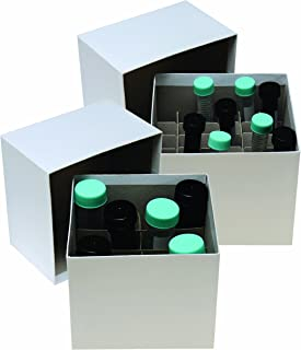 Argos R3022 Cryo/Freezer Box 36 Cell Divider for 15mL Tube, 5-3/8