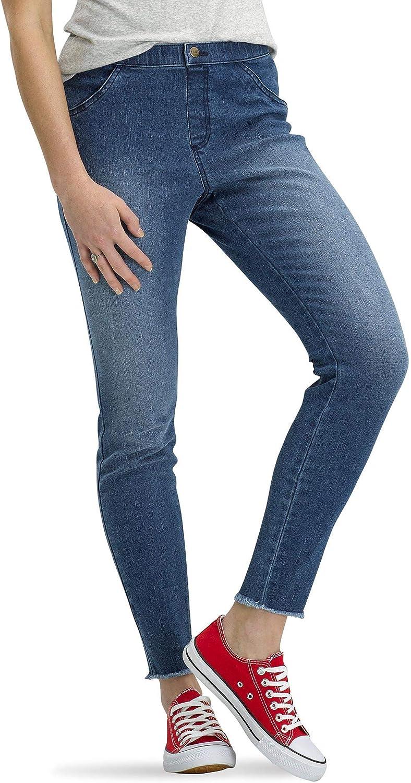 No Nonsense Women's Frayed Edge Denim Leggings