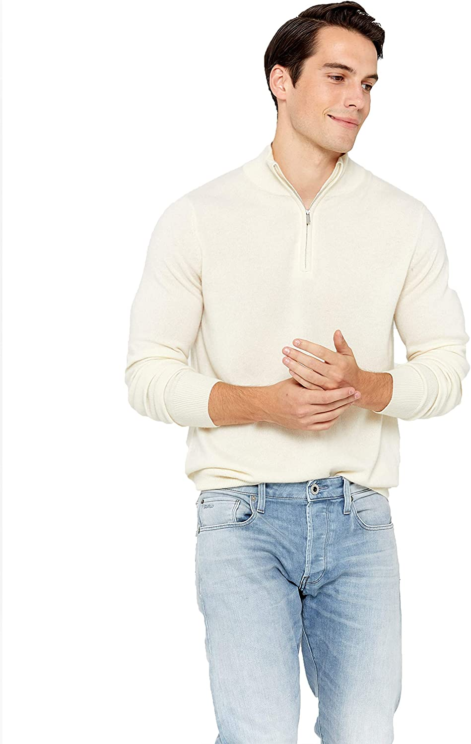 State Cashmere Half Zip Mock Pure Pullover Po Neck Popular product Ranking TOP15 100%