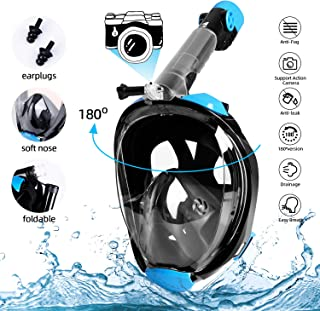comprar comparacion amzdeal Máscara de Buceo - Máscara de Snorkel Plegable Completa-mascarilla antifugas-Sello de Silicona a Prueba, Vista pan...