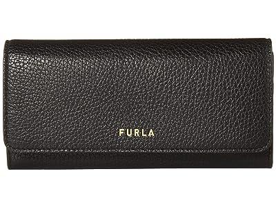 Furla Next XL Bifold (Nero) Handbags