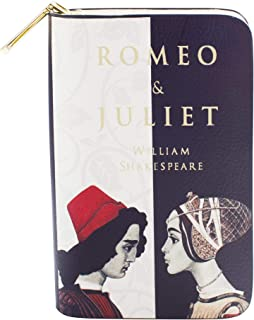 Romeo and Juliet Book Themed Zip Around Wallet Purse for Literary Lovers By Well Read - Vegan Faux Leather Clutch Wallets ...