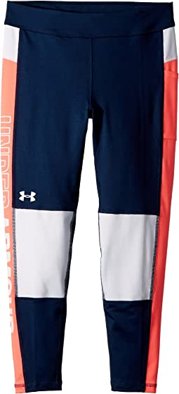 Under Armour Kids - UA Color Block Crop Leggings (Big Kids)