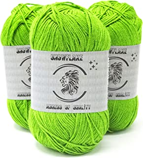 Organic,Soft,Sport Knitting Bamboo Cotton Yarn (3 Piecess)-%70 Natural Bamboo %30 Cotton Crochet and Yarn for in Different...