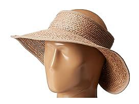 SCALAPaper Braid Visor · San Diego Hat Company RHV1505 Raffia Roll Up Visor  with Velcro Closure 4cff43814ecb