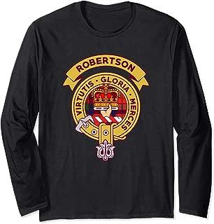 Robertson Clan Badge T Shirt Long Sleeve Scottish Tartan