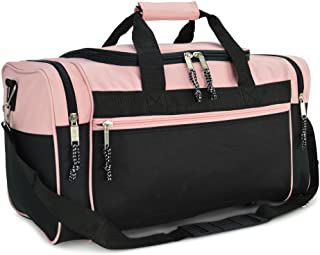"""DALIX 21"""" Blank Sports Duffle Bag Gym Bag Travel Duffel with Adjustable Strap in Pink"""