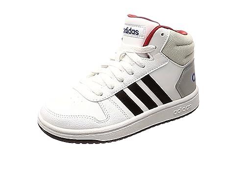 País Fusión quemado  Adidas Hoops Mid 2.0 K, Zapatillas de Deporte Unisex niño, Blanco  (Ftwbla/Negbas/Escarl 000), 33.5 EU: Amazon.es: Zapatos y complementos