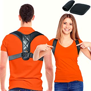 Trabee Posture Corrector for Women and Men with Underarm Pads - Adjustable Upper Back Brace for Neck, Shoulder and Back Su...