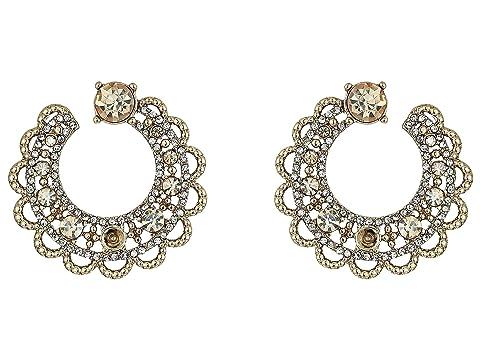Marchesa Swirl Post Hoop Earrings