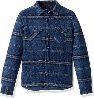 Boys' Big Glacier Stretch Button Up Superfleece Sherpa Lined Jacket