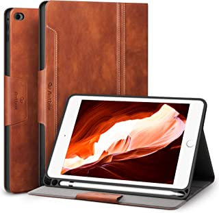 Antbox Case for iPad Mini 5 2019 (5th Generation 7.9 inch) / iPad Mini 4 with Built-in Apple Pencil Holder PU Leather Smart Cover with Auto Sleep/Wake Stand Function (Brown)