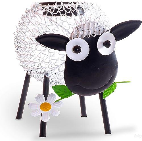 Gadgy Lampe jardin solaire | Decoration led en forme de mouton blanc avec effet d'ombre | Deco éclairage solaire pour...