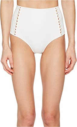 Pearl Studded High-Waisted Bikini Bottom
