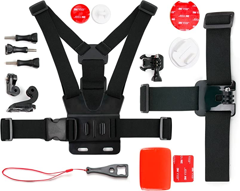 DURAGADGET Kit de Accesorios para Cámara Acción Deportiva Victure WiFi | Vemont | Lyhoon | Ultra HD 4K APEMAN | CkeyiN® 1080P HD | YI M1 4 K