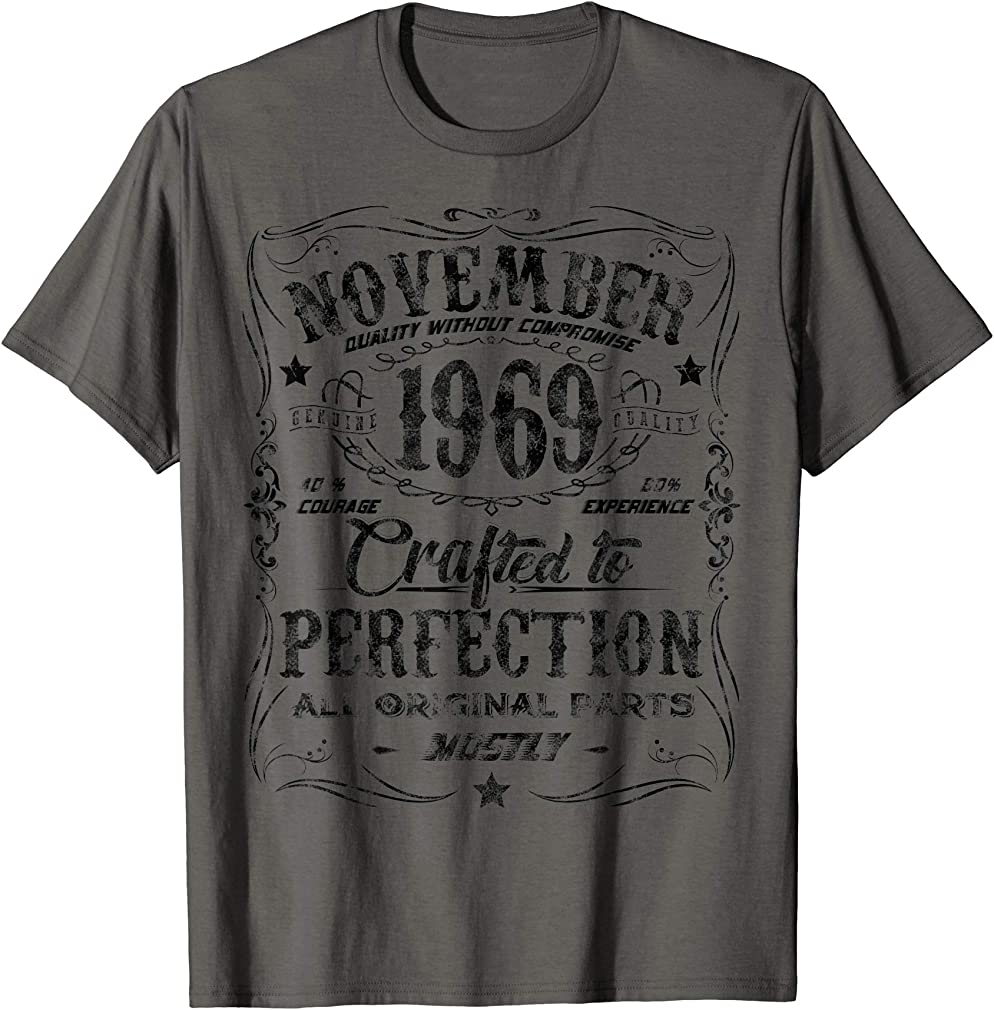 Classic 50th Birthday Gift Mens Womens Vintage November 1969 T-shirt