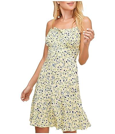 ASTR the Label Chalet Dress (Lemon Cobalt Floral) Women