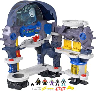 Fisher-Price Imaginext DC Super Friends Super Surround Batcueva, juego interactivo de Batman con luces, sonidos y 5 figuras exclusivas