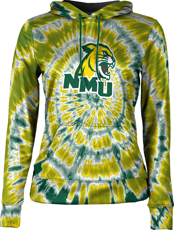 ProSphere Northern Michigan University Girls' Pullover Hoodie, School Spirit Sweatshirt (Tie Dye)