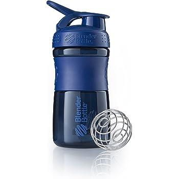 BlenderBottle SportMixer Tritan Grip Shaker Bottle, Navy/Navy, 20-Ounce