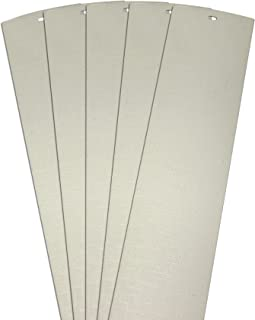 DALIX Lino Vertical Blinds Replacement Slats Off White 94.5