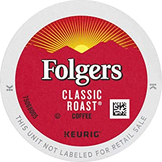 Folgers Classic Roast Coffee, Medium Roast, K Cup Pods for Keurig Coffee Makers, 96 Count