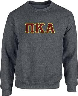 Fashion Greek Pi Kappa Alpha Twill Letter Crewneck Sweatshirt