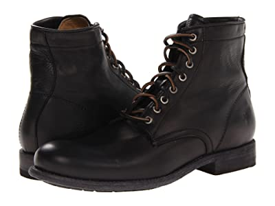 Frye Tyler Lace Up (Black Soft Vintage Leather) Men