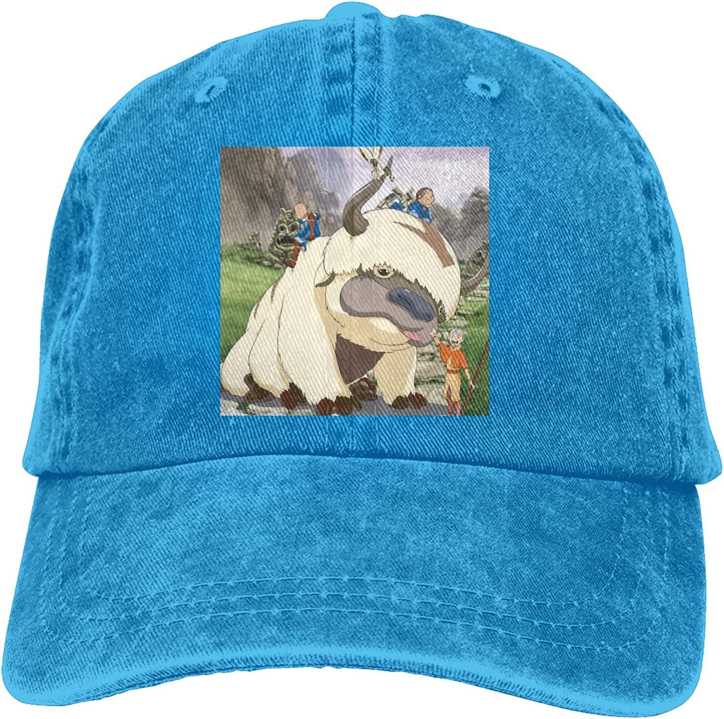 Avatar The Last Airbender Cowboy Hat Unisex Adjustable Hat Circumference Size Pure Cotton Denim Wash Water Outdoor