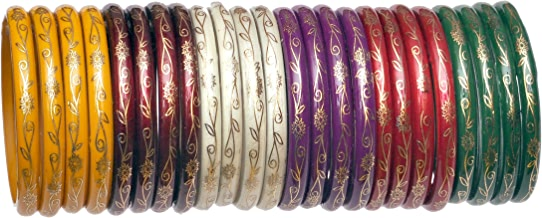 NMII Multicolour Glass Bangle for Women & Girls