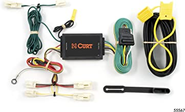 CURT 55567 Vehicle-Side Custom 4-Pin Trailer Wiring Harness for Select Mazda 3, 6, Toyota Camry, FJ Cruiser