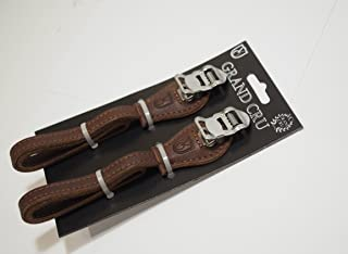 black Velo Orange Grand Cru laminated leather toe straps