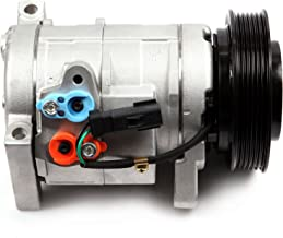 ECCPP A/C Compressor with Clutch CO 29001C fit for 2000-2007 Chrysler Town Country Voyager Dodge Grand Caravan Plymouth Grand Voyager